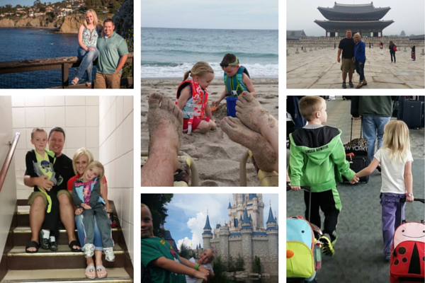 Family Travel Collage