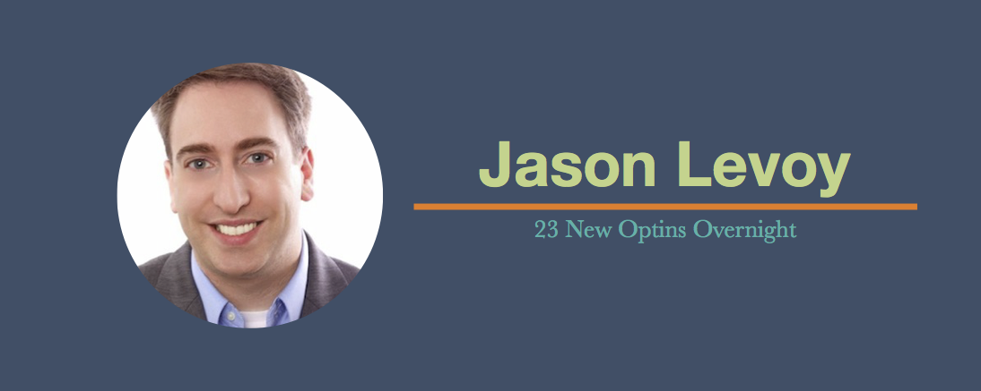 See How Jason's Guest Post Brought New Optins
