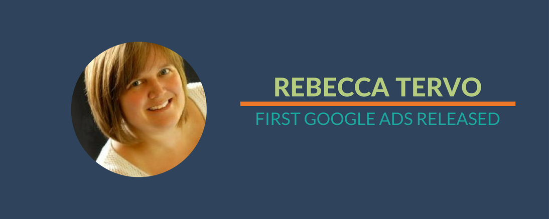 Rebecca's First Google Ads Released