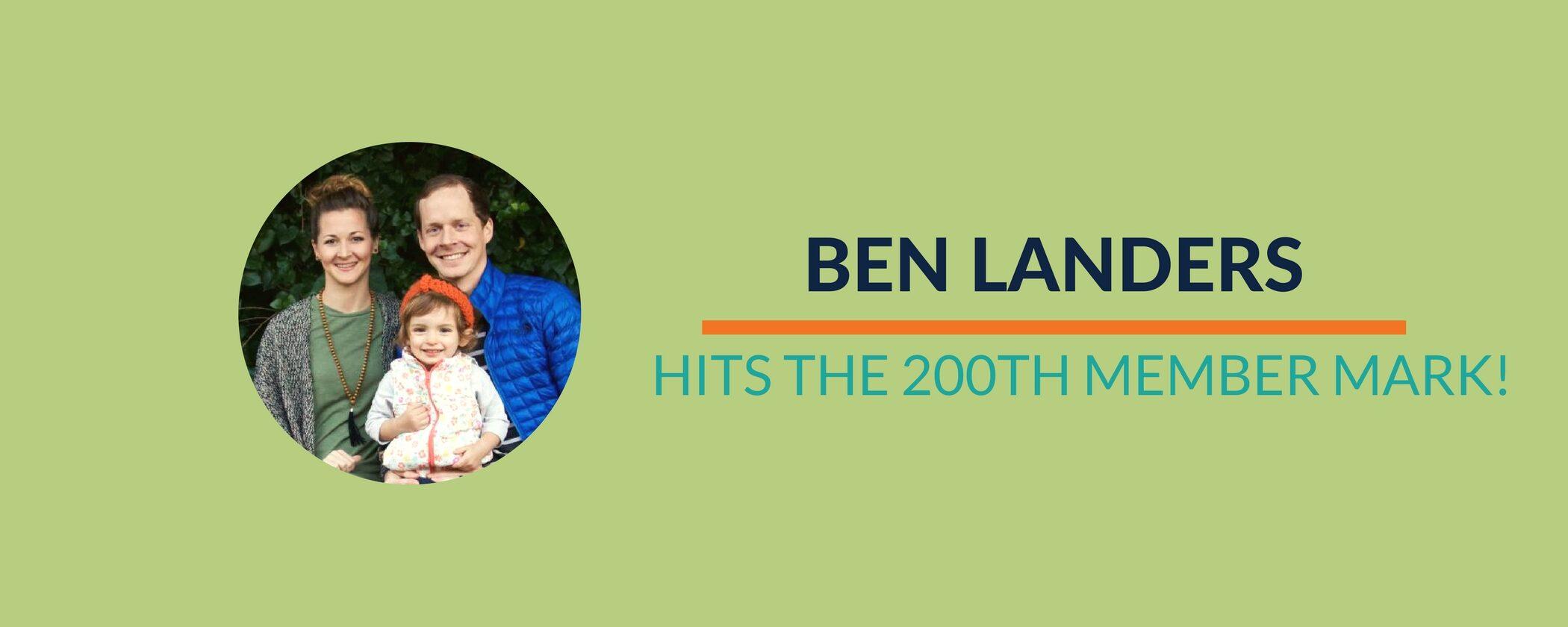 Success Story: Celebrate Ben's 200th annual member milestone!