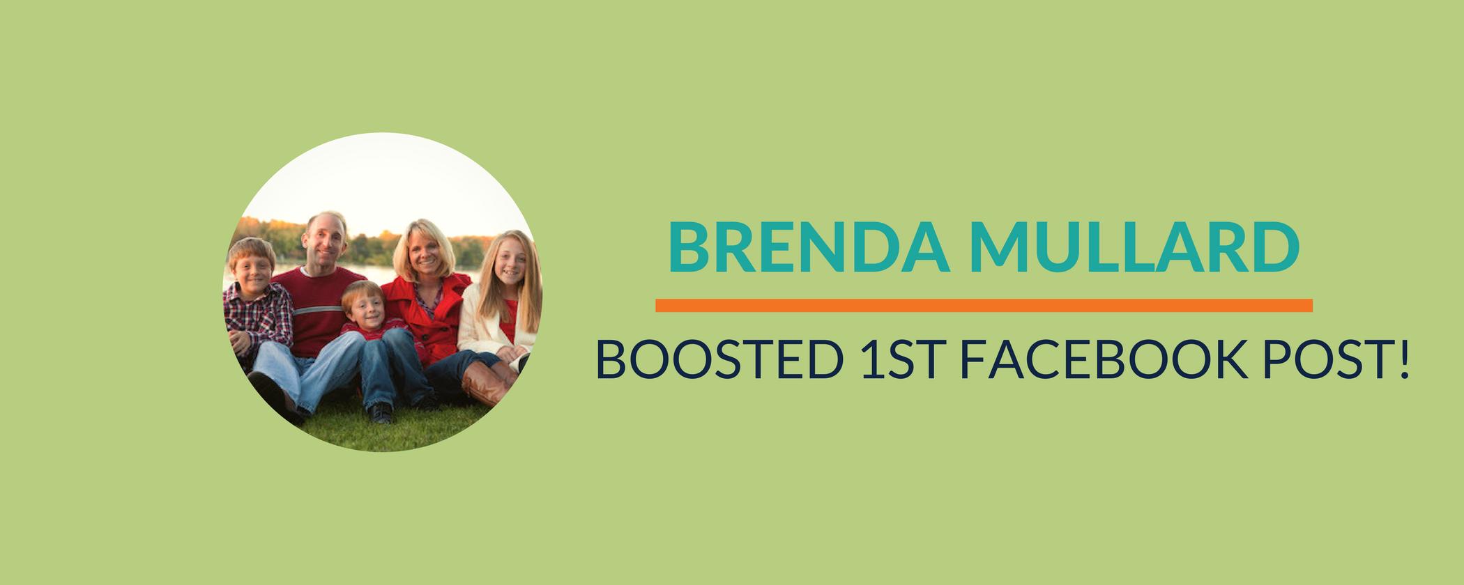 Success Story: Brenda rocks her first Facebook post