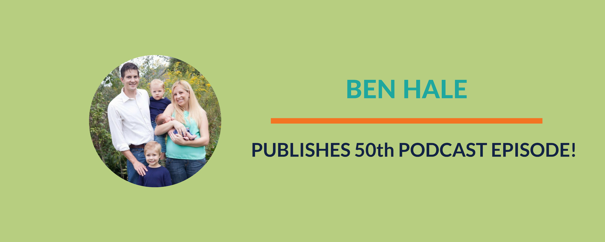Success Story:  Ben Publishes 50th Podcast Episode!